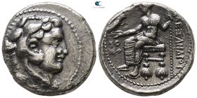 "Kings of Macedon. Tyre. Alexander III ""the Great"" 336-323 BC. Struck under Menes. Dated RY 24 of 'Ozmilk=326/5 BC. Tetradrachm AR"