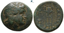 Kings of Thrace. Uncertain mint. Adaios 253-243 BC. Bronze Æ