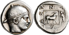 THRACE. Ainos. Circa 453/2-451/0 BC. Tetradrachm (Silver, 25 mm, 16.47 g, 7 h), Antiadas, magistrate. Head of Hermes to right, wearing close-fitting p...