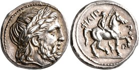 KINGS OF MACEDON. Philip II, 359-336 BC. Tetradrachm (Silver, 24 mm, 14.28 g, 9 h), Amphipolis, struck under Antipater, Polyperchon, or Kassander, cir...