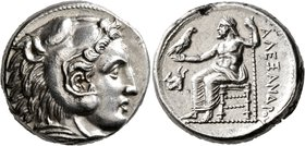 KINGS OF MACEDON. Alexander III 'the Great', 336-323 BC. Tetradrachm (Silver, 24 mm, 17.21 g, 6 h), Amphipolis, struck under Antipater, circa 332-326....
