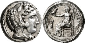 KINGS OF MACEDON. Alexander III 'the Great', 336-323 BC. Tetradrachm (Silver, 25 mm, 17.30 g, 3 h), Aigai (?), struck under Antipater, circa 328/7-323...