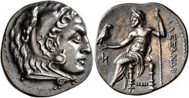 KINGS OF MACEDON. Alexander III 'the Great', 336-323 BC. Drachm (Silver, 20 mm, 4.26 g, 10 h), Miletos, circa 295-275. Head of Herakles to right, wear...