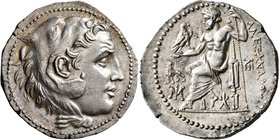 KINGS OF MACEDON. Alexander III 'the Great', 336-323 BC. Tetradrachm (Silver, 32 mm, 16.79 g, 1 h), Miletos, circa 210-190. Head of Herakles to right,...