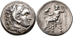 KINGS OF MACEDON. Alexander III 'the Great', 336-323 BC. Tetradrachm (Silver, 28 mm, 17.13 g, 1 h), uncertain mint in western Asia Minor, circa 323-28...