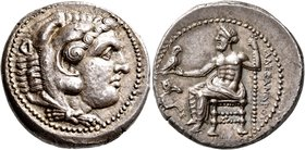 KINGS OF MACEDON. Alexander III 'the Great', 336-323 BC. Tetradrachm (Silver, 26 mm, 17.28 g, 11 h), Damaskos, struck under Menon or Menes, circa 330-...