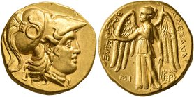 KINGS OF MACEDON. Alexander III 'the Great', 336-323 BC. Stater (Gold, 17 mm, 8.58 g, 3 h), Babylon I, struck under Seleukos I, circa 311-300. Head of...