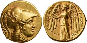 KINGS OF MACEDON. Alexander III 'the Great', 336-323 BC. Stater (Gold, 19 mm, 8.57 g, 2 h), Babylon I, struck under Seleukos I, circa 311-300. Head of...