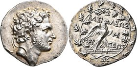 KINGS OF MACEDON. Perseus, 179-168 BC. Tetradrachm (Silver, 32 mm, 16.48 g, 12 h), Attic standard, Pella or Amphipolis. Zoilos, magistrate. Diademed h...