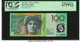 Australia Australia Reserve Bank 100 Dollars 2008 Pick 61a R621 PCGS Superb Gem New 67PPQ.   HID09801242017