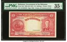 Bahamas Bahamas Government 10 Shillings 1936 (ND 1947) Pick 10d PMG Choice Very Fine 35 EPQ.   HID09801242017