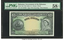 Bahamas Bahamas Government 1 Pound 1936 (ND 1953) Pick 15d PMG Choice About Unc 58 EPQ.   HID09801242017
