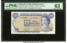 Bermuda Bermuda Government 10 Dollars 6.2.1970 Pick 25a PMG Choice Uncirculated 63.   HID09801242017
