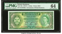 British Honduras Government of British Honduras 1 Dollar 1.1.1973 Pick 28c PMG Choice Uncirculated 64. Great embossing.  HID09801242017