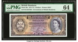 British Honduras Government of British Honduras 2 Dollars 1.1.1973 Pick 29c PMG Choice Uncirculated 64. Great embossing.  HID09801242017