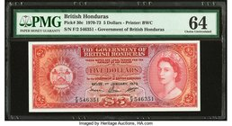 British Honduras Government of British Honduras 5 Dollars 1.1.1973 Pick 30c PMG Choice Uncirculated 64. Great embossing.  HID09801242017