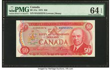 Canada Bank of Canada $50 1975 BC-51a PMG Choice Uncirculated 64 EPQ.   HID09801242017