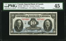 Canada Toronto, ON- Imperial Bank of Canada $10 3.1.1939 Ch.# 375-24-04 PMG Choice Extremely Fine 45.   HID09801242017