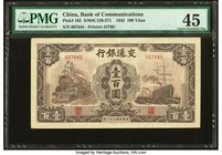China Bank of Communications 100 Yuan 1942 Pick 165 S/M#C126-271 PMG Choice Extremely Fine 45.   HID09801242017