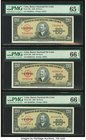 Cuba Banco Nacional de Cuba 20 Pesos 1949; 1958;' 1960 Pick 80a; 80b; 80c Three Examples PMG Gem Uncirculated 65 EPQ; Gem Uncirculated 66 EPQ (2).   H...