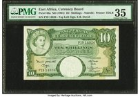 East Africa Currency Board 10 Shillings ND (1961) Pick 42a PMG Choice Very Fine 35.   HID09801242017