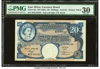 East Africa Currency Board 20 Shillings ND (1961) Pick 43a PMG Very Fine 30.   HID09801242017