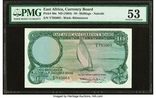 East Africa Currency Board 10 Shillings ND (1964) Pick 46a PMG About Uncirculated 53.   HID09801242017