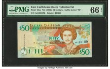 East Caribbean States Central Bank, Montserrat 50 Dollars ND (2000) Pick 40m PMG Gem Uncirculated 66 EPQ.   HID09801242017