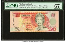 Fiji Reserve Bank of Fiji 50 Dollars ND (1966) Pick 100b PMG Superb Gem Unc 67 EPQ.   HID09801242017