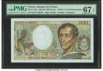France Banque de France 200 Francs 1983 Pick 155a PMG Superb Gem Unc 67 EPQ.   HID09801242017
