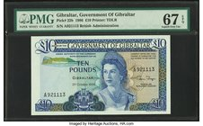 Gibraltar Government of Gibraltar 10 Pounds 21.10.1986 Pick 22b PMG Superb Gem Unc 67 EPQ.   HID09801242017