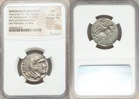MACEDONIAN KINGDOM. Alexander III the Great (336-323 BC). AR tetradrachm (25mm, 17.04 gm, 7h). NGC AU 5/5 - 4/5. Early posthumous issue of 'Amphipolis...