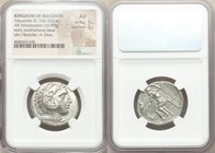 MACEDONIAN KINGDOM. Alexander III the Great (336-323 BC). AR tetradrachm (26mm, 16.99 gm, 10h). NGC AU 5/5 - 3/5. Late lifetime or early posthumous is...