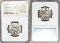 MACEDONIAN KINGDOM. Alexander III the Great (336-323 BC). AR tetradrachm (25mm, 16.73 gm, 6h). NGC AU 5/5 - 3/5. Posthumous issue of Ake or Tyre, date...