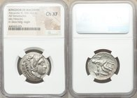 MACEDONIAN KINGDOM. Alexander III the Great (336-323 BC). AR tetradrachm (26mm, 9h). NGC Choice XF. Lifetime issue of 'Amphipolis', ca. 325-323 BC. He...