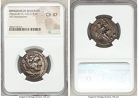 MACEDONIAN KINGDOM. Alexander III the Great (336-323 BC). AR tetradrachm (25mm, 4h). NGC Choice XF. Lifetime issue of Ake or Tyre, ca. 330-327 BC. Hea...