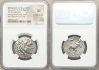 MACEDONIAN KINGDOM. Alexander III the Great (336-323 BC). AR tetradrachm (26mm, 1h). NGC XF, Fine Style. Late lifetime or early posthumous issue of Mi...