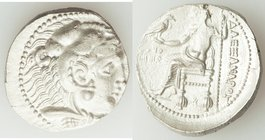 MACEDONIAN KINGDOM. Alexander III the Great (336-323 BC). AR tetradrachm (27mm, 16.49 gm, 10h). XF, brushed. Posthumous issue of Ake or Tyre, dated Re...