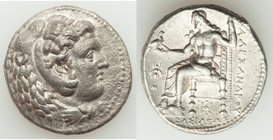 MACEDONIAN KINGDOM. Alexander III the Great (336-323 BC). AR tetradrachm (27mm, 16.83 gm, 1h). XF, Fine Style, porosity. Lifetime issue of 'Babylon', ...