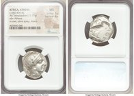 ATTICA. Athens. Ca. 440-404 BC. AR tetradrachm (25mm, 17.17 gm, 7h). NGC MS 3/5 - 4/5. Mid-mass coinage issue. Head of Athena right, wearing crested A...