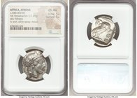 ATTICA. Athens. Ca. 440-404 BC. AR tetradrachm (26mm, 17.20 gm, 7h). NGC Choice AU 5/5 - 5/5. Mid-mass coinage issue. Head of Athena right, wearing cr...
