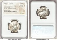 ATTICA. Athens. Ca. 440-404 BC. AR tetradrachm (24mm, 17.19 gm, 7h). NGC Choice AU 5/5 - 4/5. Mid-mass coinage issue. Head of Athena right, wearing cr...