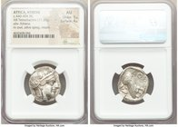 ATTICA. Athens. Ca. 440-404 BC. AR tetradrachm (24mm, 17.20 gm, 10h). NGC AU 5/5 - 4/5. Mid-mass coinage issue. Head of Athena right, wearing crested ...