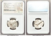ATTICA. Athens. Ca. 440-404 BC. AR tetradrachm (24mm, 17.16 gm, 1h). NGC Choice XF 3/5 - 4/5. Mid-mass coinage issue. Head of Athena right, wearing cr...