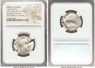 ATTICA. Athens. Ca. 440-404 BC. AR tetradrachm (26mm, 16.84 gm, 2h). NGC Choice XF 5/5 - 2/5, test cut. Mid-mass coinage issue. Head of Athena right, ...