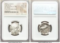 ATTICA. Athens. Ca. 440-404 BC. AR tetradrachm (25mm, 17.18 gm, 1h). NGC XF 3/5 - 4/5. Mid-mass coinage issue. Head of Athena right, wearing crested A...