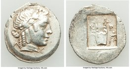 LYCIAN LEAGUE. Cragus. Ca. 1st century BC. AR hemidrachm (18mm, 1.86 gm, 1h). XF. Series 2. Laureate head of Apollo wearing wreath and taenia right; Λ...