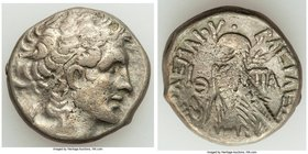 PTOLEMAIC EGYPT. Cleopatra VII Thea Neotera (51-30 BC). AR stater or tetradrachm (25mm, 13.46 gm, 11h). About VF. Alexandria, dated Regnal Year 9 (42/...