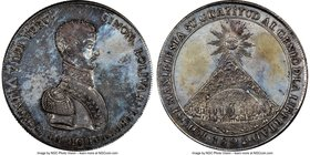 "Republic silver ""Mountain of Potosi"" Medal 1825 MS61 NGC, Fonrobert-9466. 42mm. From the Dresden Collection of Hispanic and Brazilian Proclamation Med..."