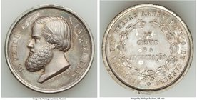 "Pedro II silver ""Fine Arts Exhibition"" Award Medal ND (1860-1888) Prooflike (Surface Hairlines), Rio de Janeiro mint, VC-72, Meili-166. 34mm. 23.37gm...."